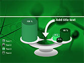 Molecular Lattice In Dark Green Colors PowerPoint Template#10