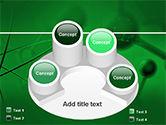 Molecular Lattice In Dark Green Colors PowerPoint Template#12