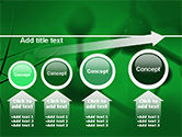 Molecular Lattice In Dark Green Colors PowerPoint Template#13