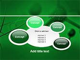 Molecular Lattice In Dark Green Colors PowerPoint Template#16