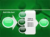 Molecular Lattice In Dark Green Colors PowerPoint Template#17