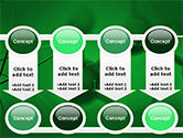 Molecular Lattice In Dark Green Colors PowerPoint Template#18