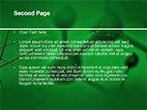 Molecular Lattice In Dark Green Colors PowerPoint Template#2