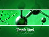 Molecular Lattice In Dark Green Colors PowerPoint Template#20