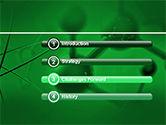 Molecular Lattice In Dark Green Colors PowerPoint Template#3