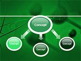 Molecular Lattice In Dark Green Colors PowerPoint Template#4