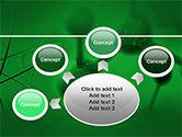 Molecular Lattice In Dark Green Colors PowerPoint Template#7