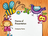 Holiday/Special Occasion: Lovely Children Frame PowerPoint Template #14714
