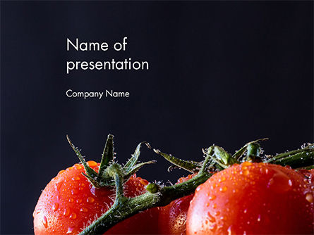 Wet Tomatoes PowerPoint Template, 14715, Agriculture — PoweredTemplate.com