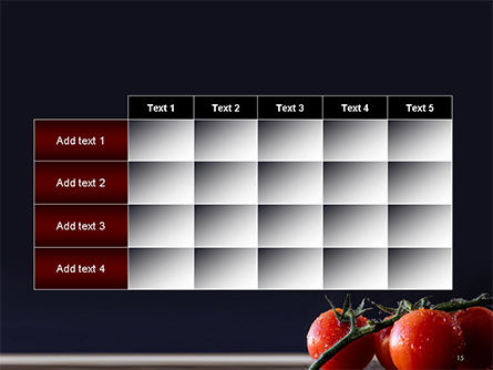 Wet Tomatoes PowerPoint Template Slide 15