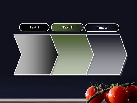 Wet Tomatoes PowerPoint Template Slide 16