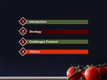 Wet Tomatoes PowerPoint Template, Slide 3, 14715, Agriculture — PoweredTemplate.com