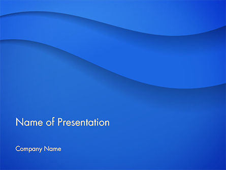 Abstract/Textures: Simple Blue Waves PowerPoint Template #14717