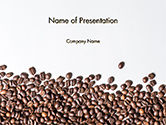 Food & Beverage: Scattered Coffee Beans Background PowerPoint Template #14718