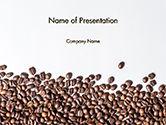 Food & Beverage: 分散的咖啡豆背景PowerPoint模板 #14718