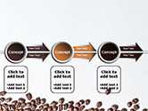 Scattered Coffee Beans Background PowerPoint Template#11