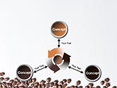 Scattered Coffee Beans Background PowerPoint Template#12