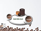 Scattered Coffee Beans Background PowerPoint Template#13