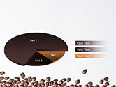 Scattered Coffee Beans Background PowerPoint Template#14