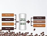 Scattered Coffee Beans Background PowerPoint Template#16