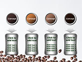 Scattered Coffee Beans Background PowerPoint Template#18