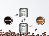 Scattered Coffee Beans Background PowerPoint Template#19