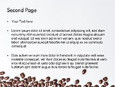 Scattered Coffee Beans Background PowerPoint Template#2