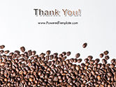 Scattered Coffee Beans Background PowerPoint Template#20