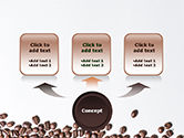 Scattered Coffee Beans Background PowerPoint Template#4