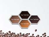 Scattered Coffee Beans Background PowerPoint Template#5
