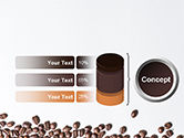 Scattered Coffee Beans Background PowerPoint Template#8