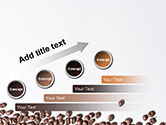 Scattered Coffee Beans Background PowerPoint Template#9