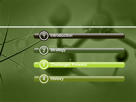 Molecular Lattice In Green Colors PowerPoint Template Slide 3