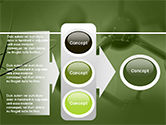 Molecular Lattice In Green Colors PowerPoint Template#11