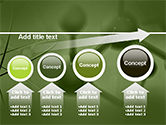 Molecular Lattice In Green Colors PowerPoint Template#13