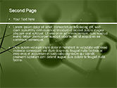 Molecular Lattice In Green Colors PowerPoint Template#2
