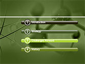 Molecular Lattice In Green Colors PowerPoint Template#3