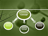 Molecular Lattice In Green Colors PowerPoint Template#4