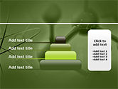 Molecular Lattice In Green Colors PowerPoint Template#8