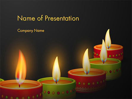 Holiday/Special Occasion: Happy Diwali PowerPoint Template #14723