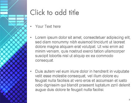 Dots and Equalizer Theme PowerPoint Template, Slide 3, 14724, Abstract/Textures — PoweredTemplate.com