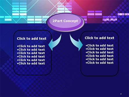 Dots and Equalizer Theme PowerPoint Template Slide 4