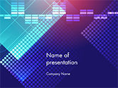 Abstract/Textures: Punten En Equalizer Thema PowerPoint Template #14724