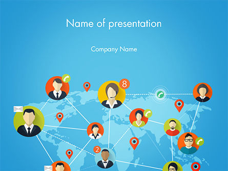 Business Concepts: Global Worldwide People Connections PowerPoint Template #14725