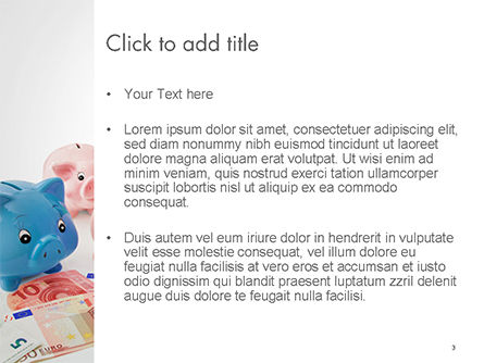 Colorful Piggy Banks PowerPoint Template, Slide 3, 14727, Financial/Accounting — PoweredTemplate.com