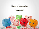 Colorful Piggy Banks PowerPoint Template#1