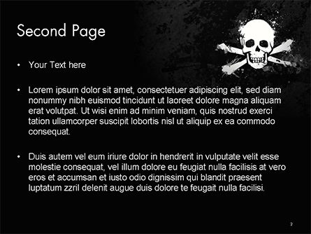 Pirate Flag Black Sails PowerPoint Template Slide 2