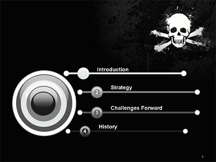 Pirate Flag Black Sails PowerPoint Template, Slide 3, 14728, Flags/International — PoweredTemplate.com