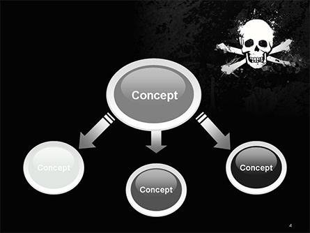 Pirate Flag Black Sails PowerPoint Template, Slide 4, 14728, Flags/International — PoweredTemplate.com