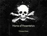 Flags/International: Pirate Flag Black Sails PowerPoint Template #14728